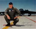 Explorers:Space Exploration, Chuck Yeager Signed Color Photo....