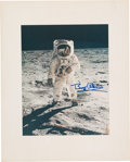 """Explorers:Space Exploration, Buzz Aldrin Signed Large Apollo 11 """"Visor"""" Color Photo Originally from His Personal Collection...."""