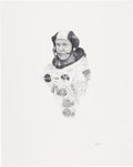 Explorers:Space Exploration, Buzz Aldrin Signed Thomas Smith Print in the Paul Calle Style, Originally from the Personal Collection of Buzz Aldrin. ...