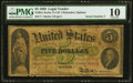 Large Size:Legal Tender Notes, Fr. 61c $5 1862 Legal Tender PMG Very Good 10.. ...