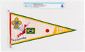 Explorers:Space Exploration, Boy Scouts: 1971 Boy Scouts of Brazil Flag, 13th World Jamboree, Directly From The Armstrong Family Collection™, CAG Certified...