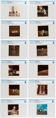 Apollo 12: Set of Twelve Color Photos by Dexter, 58-1 through 58-12, Directly From The Armstrong Family Collection™, CAG...