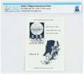 Explorers:Space Exploration, Philatelia: Apollo 11 Belgian Stamp Souvenir Sheet Directly From The Armstrong Family Collection™, CAG Certified....