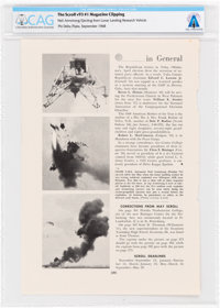 """""""Neil Armstrong Ejecting from Lunar Landing Research Vehicle"""" The Scroll Phi Delta Theta, September 1968 Clipp..."""