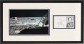 Explorers:Space Exploration, Neil Armstrong Signed Photo Matted and Framed with Apollo 11 Lunar Surface Color Photo. ...