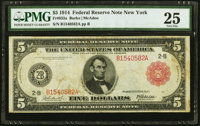 Fr. 833a $5 1914 Red Seal Federal Reserve Note PMG Very Fine 25
