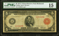 Fr. 836a $5 1914 Red Seal Federal Reserve Note PMG Choice Fine 15