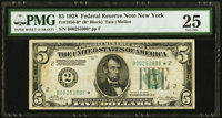 Fr. 1950-B* $5 1928 Federal Reserve Note. PMG Very Fine 25