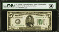 Fr. 1951-C* $5 1928A Federal Reserve Note. PMG Very Fine 30