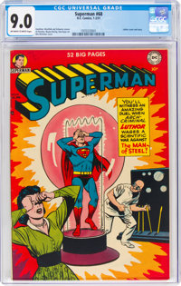 Superman #68 (DC, 1951) CGC VF/NM 9.0 Off-white to white pages