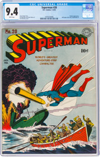 Superman #20 (DC, 1943) CGC NM 9.4 White pages