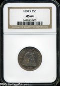 Seated Quarters: , 1888-S 25C MS64 NGC. ...
