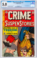 Golden Age (1938-1955):Crime, Crime SuspenStories #22 (EC, 1954) CGC VG/FN 5.0 Off-white to white pages....