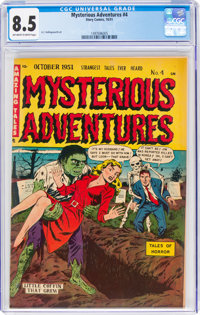 Mysterious Adventures #4 (Story Comics, 1951) CGC VF+ 8.5 Off-white to white pages