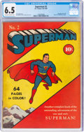 Superman #2 (DC, 1939) CGC FN+ 6.5 Off-white to white pages