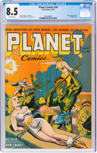 Planet Comics #26 (Fiction House, 1943) CGC VF+ 8.5 Off-white pages