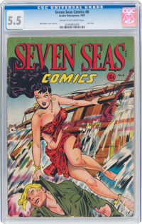 Seven Seas Comics #6 (Leader, 1947) CGC FN- 5.5 Cream to off-white pages