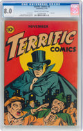 Golden Age (1938-1955):Crime, Terrific Comics #6 (Continental Magazines, 1944) CGC VF 8.0 Cream to off-white pages....