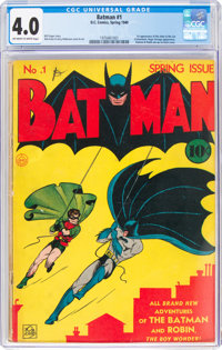 Batman #1 (DC, 1940) CGC VG 4.0 Off-white to white pages