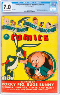 Looney Tunes and Merrie Melodies Comics #1 (Dell, 1941) CGC FN/VF 7.0 Cream to off-white pages