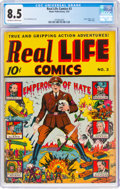 Real Life Comics #3 (Nedor Publications, 1942) CGC VF+ 8.5 Off-white to white pages