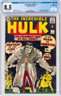 Silver Age (1956-1969):Superhero, The Incredible Hulk #1 (Marvel, 1962) CGC VF+ 8.5 Off-white pages....