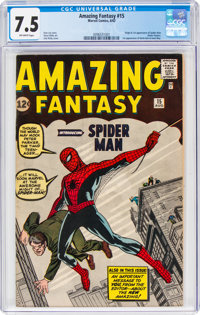 Amazing Fantasy #15 (Marvel, 1962) CGC VF- 7.5 Off-white pages