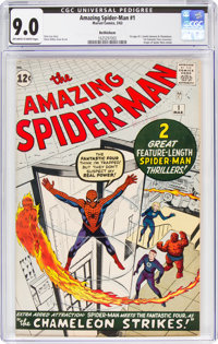 The Amazing Spider-Man #1 Bethlehem Pedigree (Marvel, 1963) CGC VF/NM 9.0 Off-white to white pages
