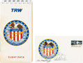 Explorers:Space Exploration, Apollo 16 Crew-Signed Cover (Not Cancelled) with TRW Flight Data Publication. ...