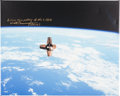 Explorers:Space Exploration, Walt Cunningham Signed Large Apollo 7 S-IVB Color Photo on Canvas. ...