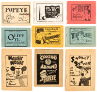 Tijuana Bibles Group of 9 (Various publishers, 1930s-40s) Condition: Average VG.... (Total: 9 Items)