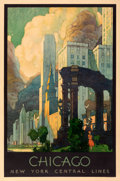 """Movie Posters:Miscellaneous, Chicago (New York Central Lines, c. 1930). Fine+ on Linen. Travel Poster (27"""" X 41"""") Leslie Darrell Ragan Artwork.. ..."""