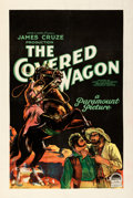 "Movie Posters:Western, The Covered Wagon (Paramount, 1923). Very Fine on Linen. One Sheet (27"" X 41"") Style A.. ..."