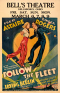 "Movie Posters:Musical, Follow the Fleet (RKO, 1936). Fine/Very Fine on Cardstock. Window Card (14"" X 22"").. ..."