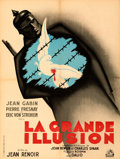 "Movie Posters:Foreign, La Grande Illusion (R.A.C., R-1946). Very Fine+ on Linen. French Moyenne (23.5"" X 31"") Bernard Lancy Artwork.. ..."