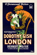 "Movie Posters:Drama, London (Paramount, 1926). Very Fine- on Linen. One Sheet (27.25"" X 41"").. ..."