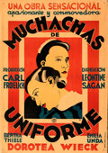 "Movie Posters:Foreign, Mädchen in Uniform (Exclusivas Huet, Early, 1930s). Fine/Very Fine on Linen. Spanish One Sheet (28"" X 39.5"").. ..."