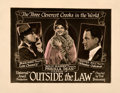 "Movie Posters:Crime, Outside the Law (Universal, 1920). Very Fine- on Paper. Half Sheet (22"" X 28"").. ..."