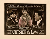 """Outside the Law (Universal, 1920). Very Fine- on Paper. Half Sheet (22"""" X 28"""")"""