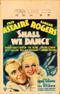 "Movie Posters:Musical, Shall We Dance (RKO, 1937). Fine/Very Fine. Window Card (14"" X 22"").. ..."