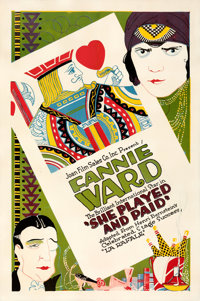 """She Played and Paid (Joan Film Sales, 1920). Fine+ on Linen. One Sheet (27"""" X 41"""")"""
