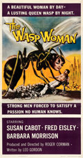 """Movie Posters:Science Fiction, The Wasp Woman (Warner Bros., 1959). Fine/Very Fine on Linen. Three Sheet (41.25"""" X 78.75"""").. ..."""