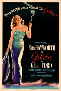 "Gilda (Columbia, 1946). Very Fine- on Linen. One Sheet (27"" X 41"") Style B"