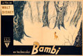 "Movie Posters:Animation, Bambi (RKO, 1947). Very Fine- on Linen. Horizontal First Post-War Release French Double Grande (89.5"" X 60.5""). C. Alexis Ar..."