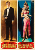 "Movie Posters:James Bond, Casino Royale (Columbia, 1967). Fine/Very Fine on Linen. Italian 4 - Fogli Set of Three (55"" X 76.75"", 55"" X 78"", & 55.25"" X... (Total: 3 Items)"