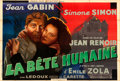 "Movie Posters:Foreign, La Bête Humaine (Lux Compagnie Cinématographique de France, 1938). Fine/Very Fine on Linen. French Double Grande (62.75"" X 9..."