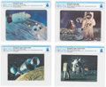 "Explorers:Space Exploration, Apollo 14: Four Beautiful Lenticular ""3-D"" Color Postcards Cancelled at Kennedy Space Center on Splashdown Day, Directly F..."