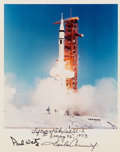 Explorers:Space Exploration, Skylab I (SL-2) Launch Color Photo Signed by Charles Conrad and Paul Weitz....