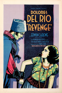 "Revenge (United Artists, 1928). Very Fine- on Linen. One Sheet (28"" X 42"")"