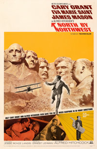 """North by Northwest (MGM, R-1966). Very Fine- on Linen. One Sheet (27"""" X 41"""")"""